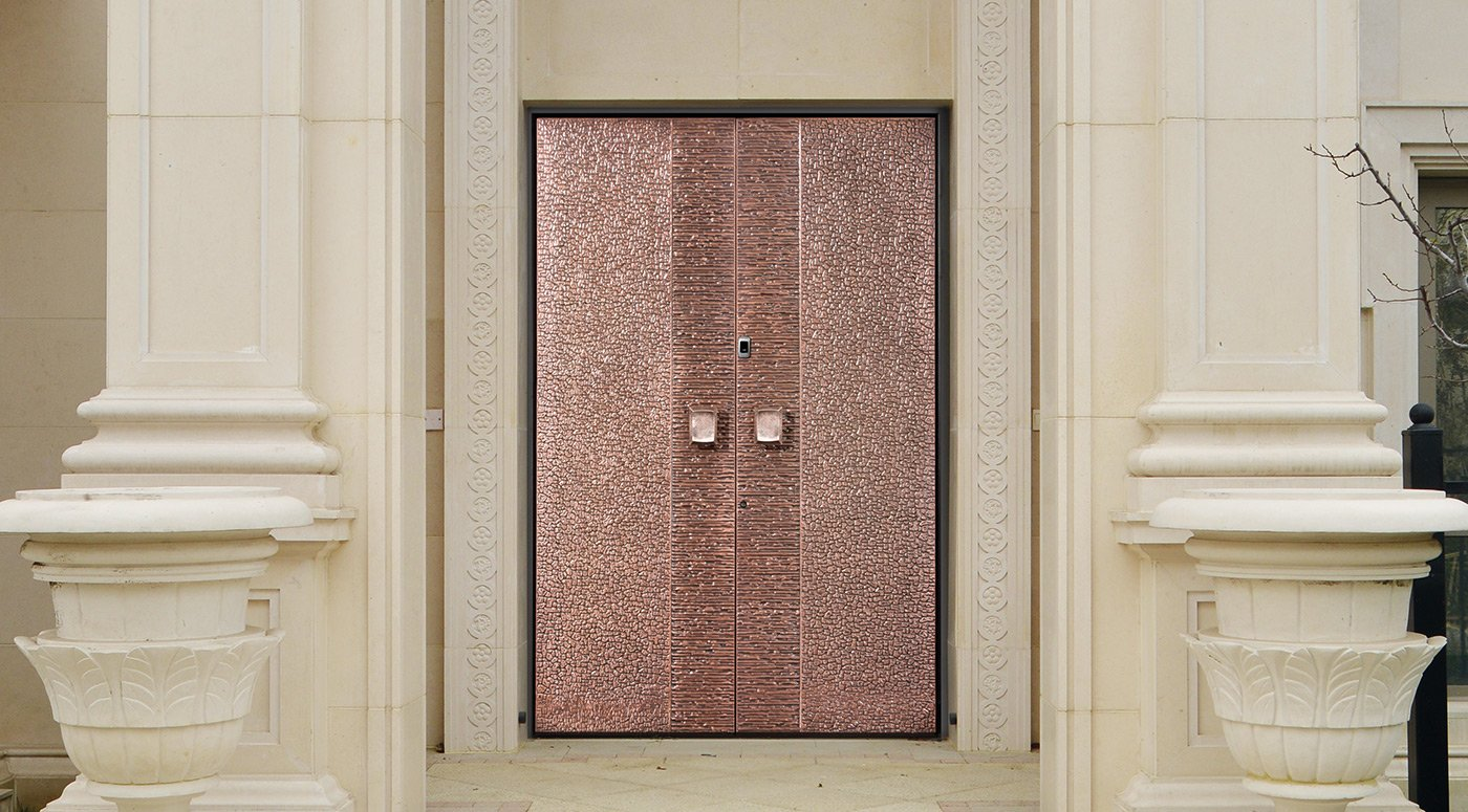 Example of Groke front door with copper panel